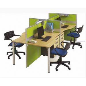Partisi kantor Modera 3.4 WS 4 staff