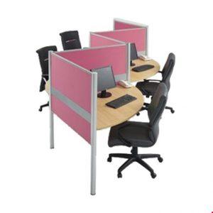Partisi kantor Modera 1.3 WS 4 Staff