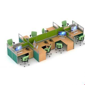 Partisi kantor Uno Slim 7